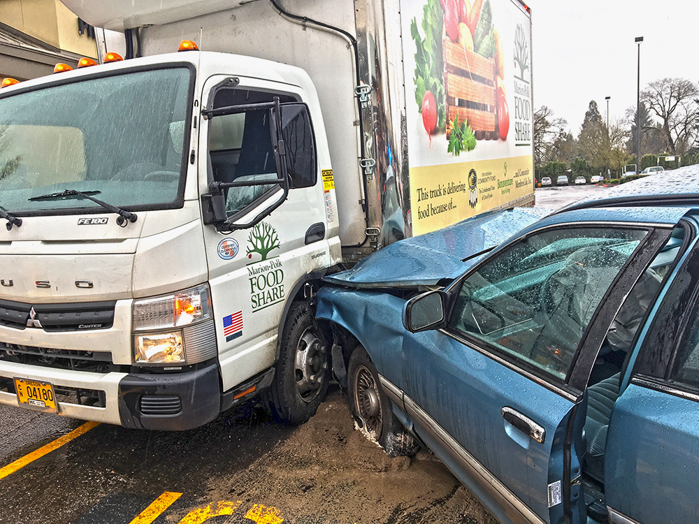 Underage driver crashes into MPFS truck
