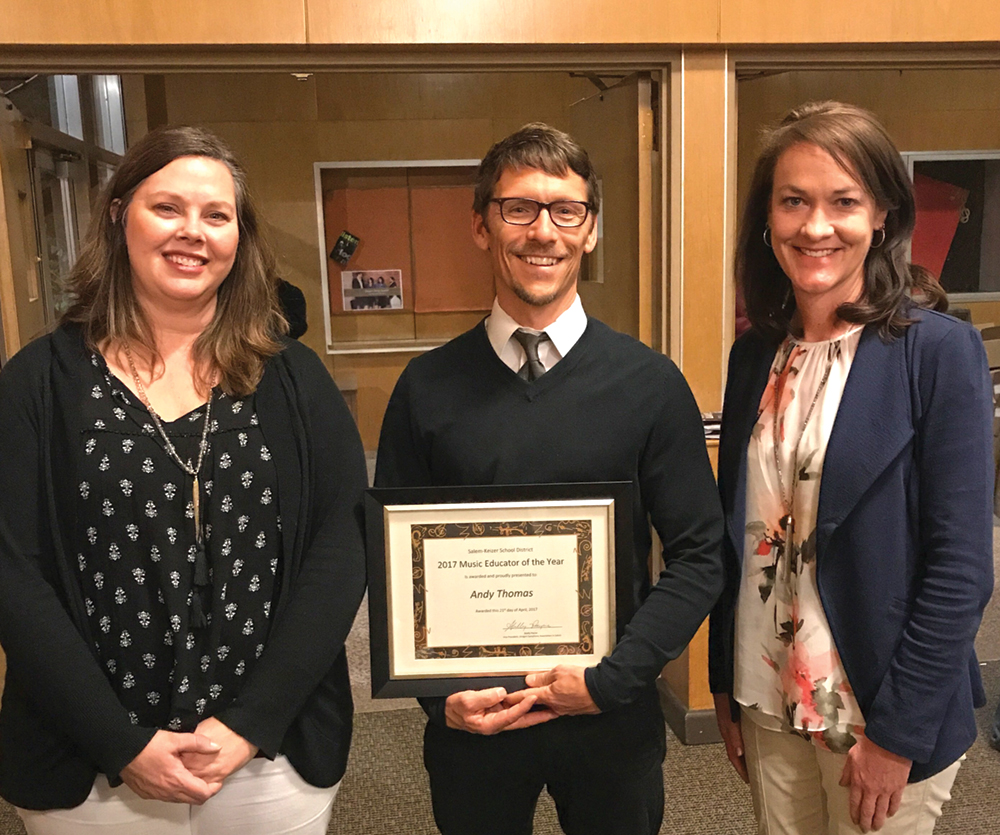 Thomas named top music educator