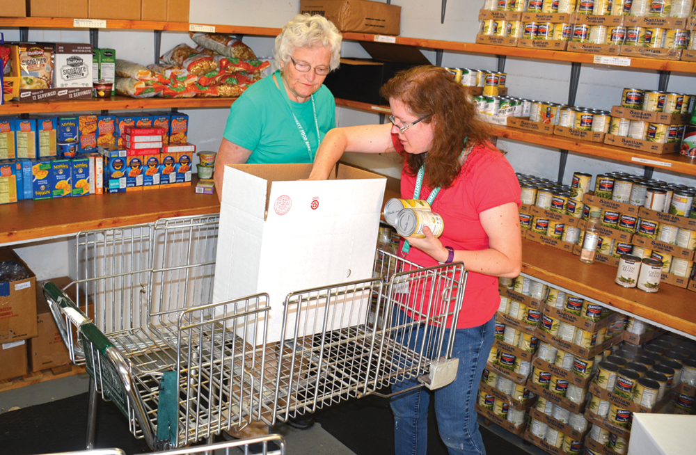 Doling out hope one food box at a time