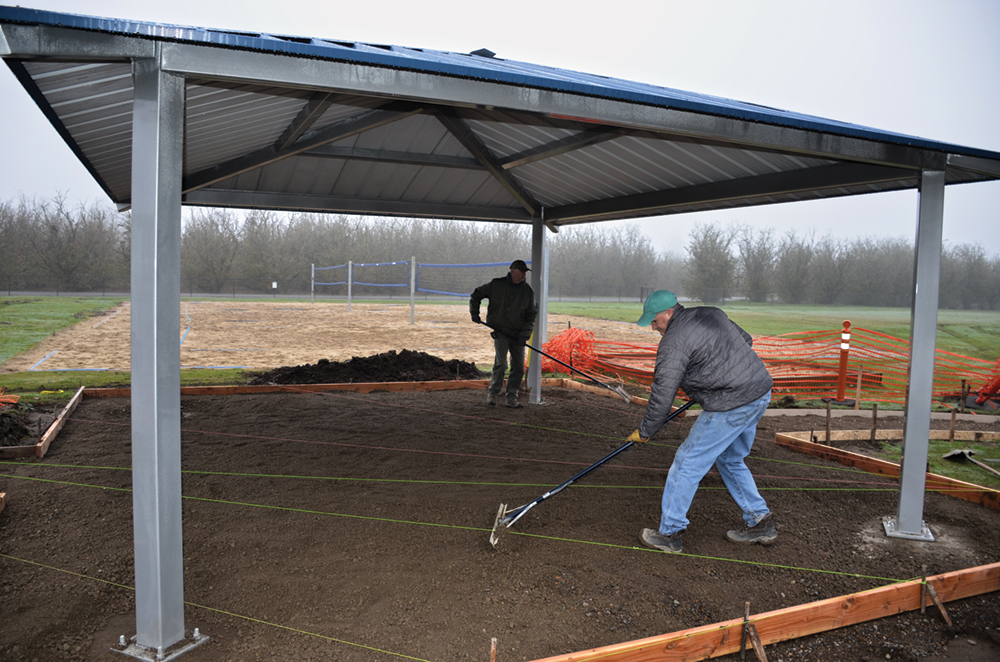Park's first shelter nears completion