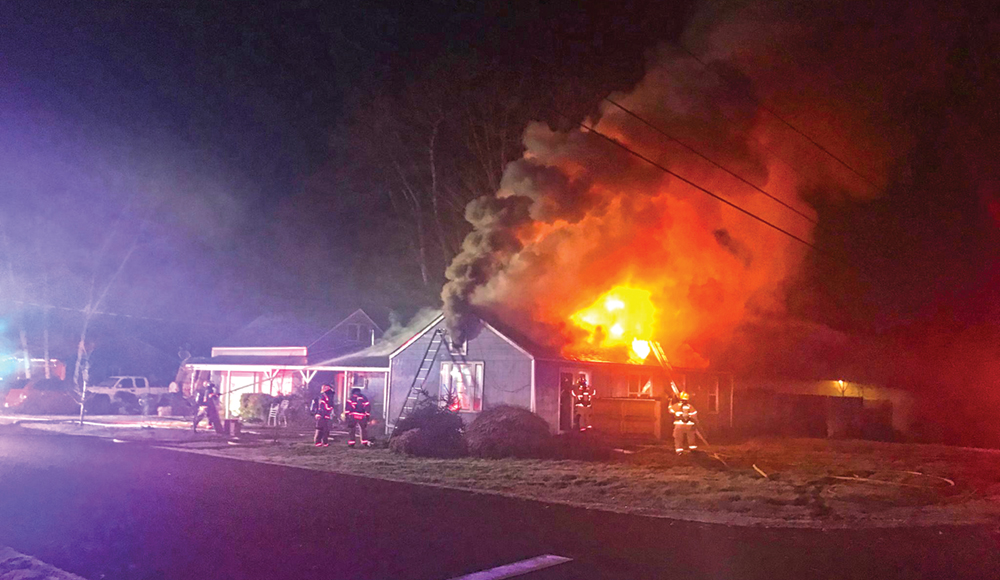 Fire displaces family of 10