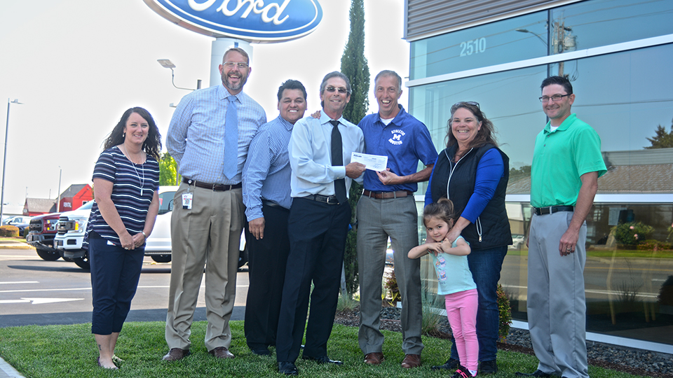 Skyline Ford gives to scoreboard