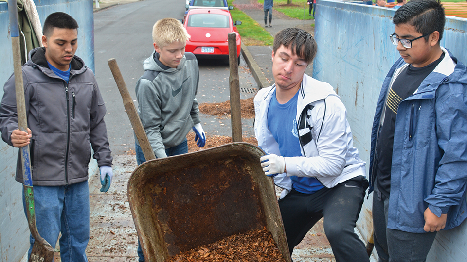 Students make quick work of park clean-up